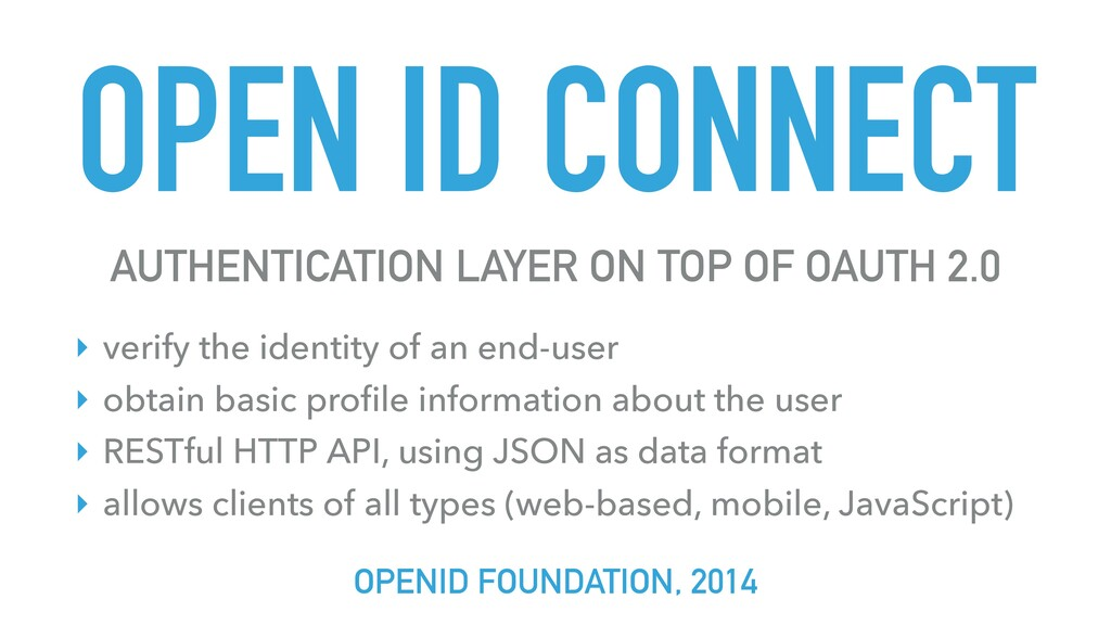 OPEN ID CONNECT AUTHENTICATION LAYER ON TOP OF ...