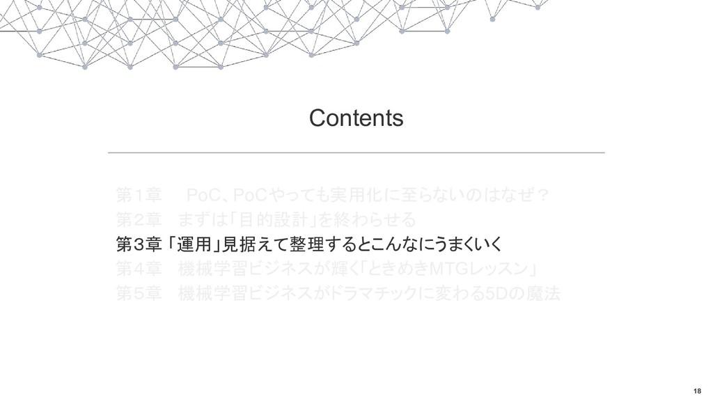 18 Contents 第1章 PoC、PoCやっても実用化に至らないのはなぜ? 第2章 まず...