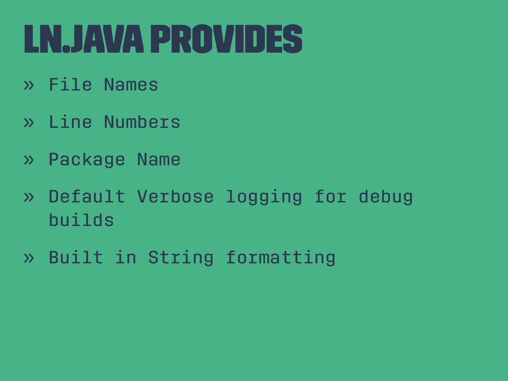 Ln.java Provides » File Names » Line Numbers » ...