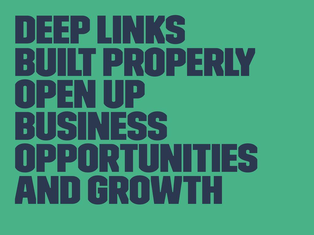 Deep Links Built Properly Open up Business oppo...