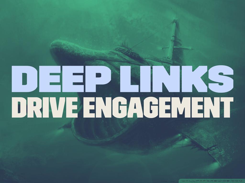 Deep Links Drive Engagement