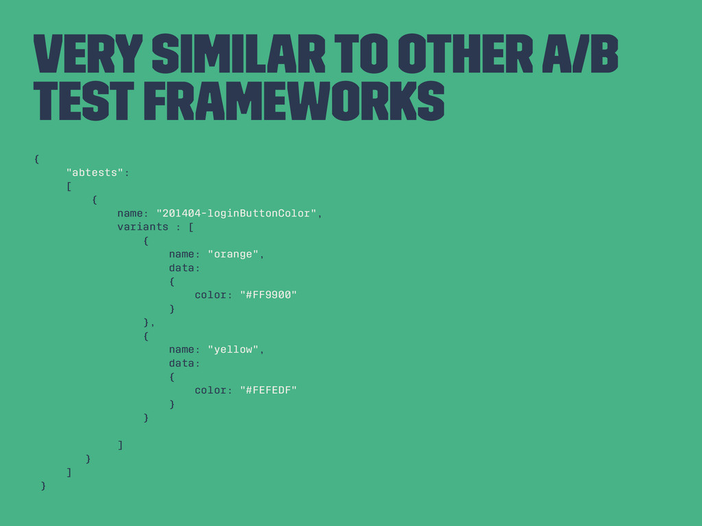 """Very Similar to Other A/B Test Frameworks { """"ab..."""
