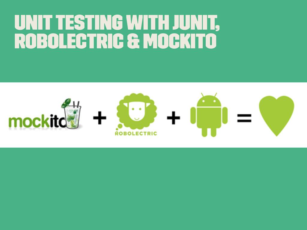 Unit Testing With JUNit, Robolectric & Mockito