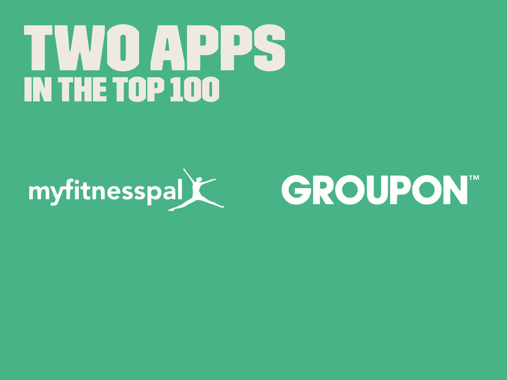 Two Apps In The Top 100