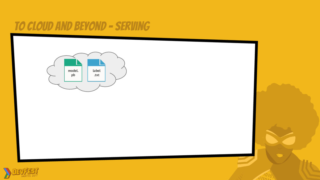 to cloud and beyond - Serving model. pb label ....