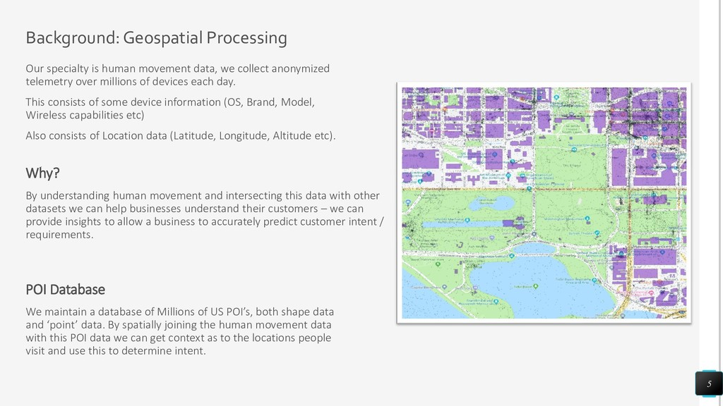 Background: Geospatial Processing Our specialty...