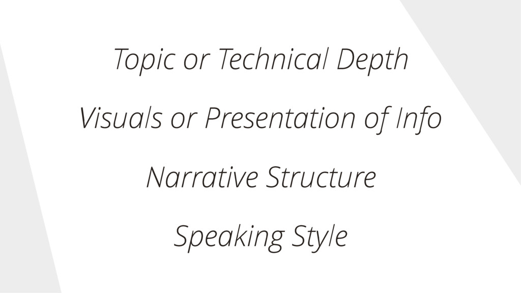 Topic or Technical Depth Visuals or Presentatio...