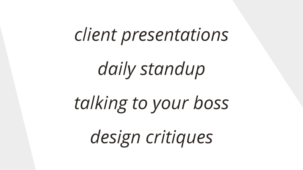 client presentations daily standup talking to y...