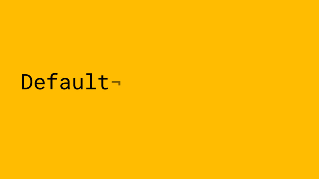 Default¬