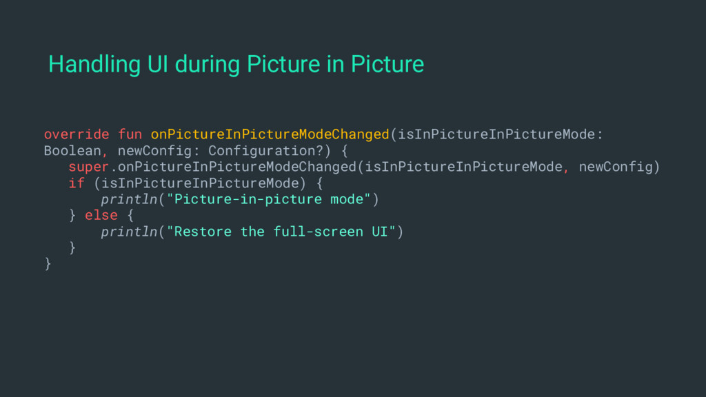 Handling UI during Picture in Picture override ...