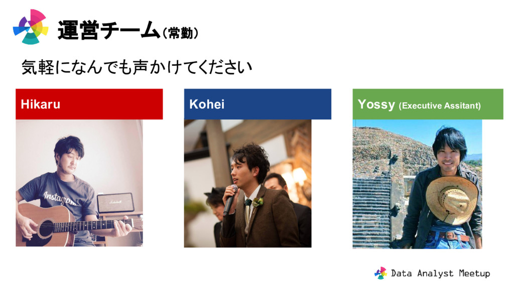 運営チーム(常勤) Kohei Hikaru Yossy (Executive Assitan...