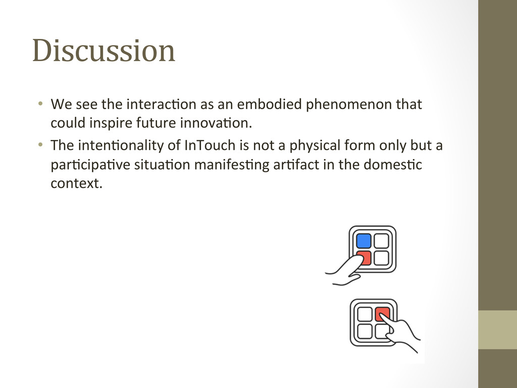 Discussion • We see the interacAon...
