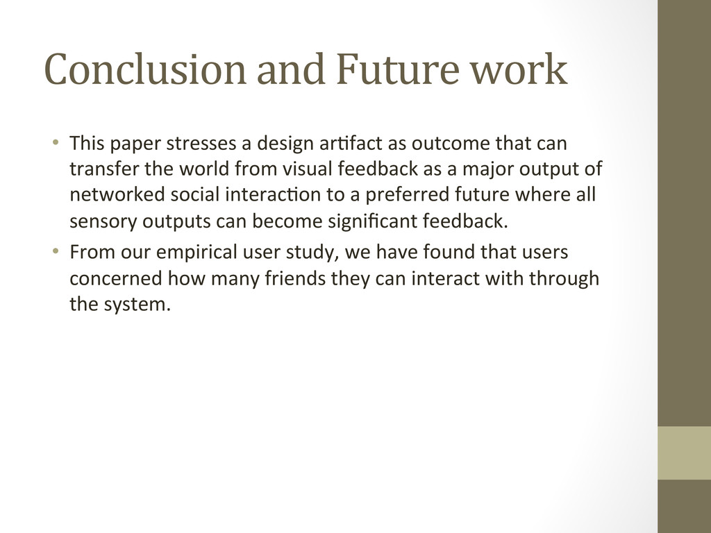 Conclusion and Future work • This ...