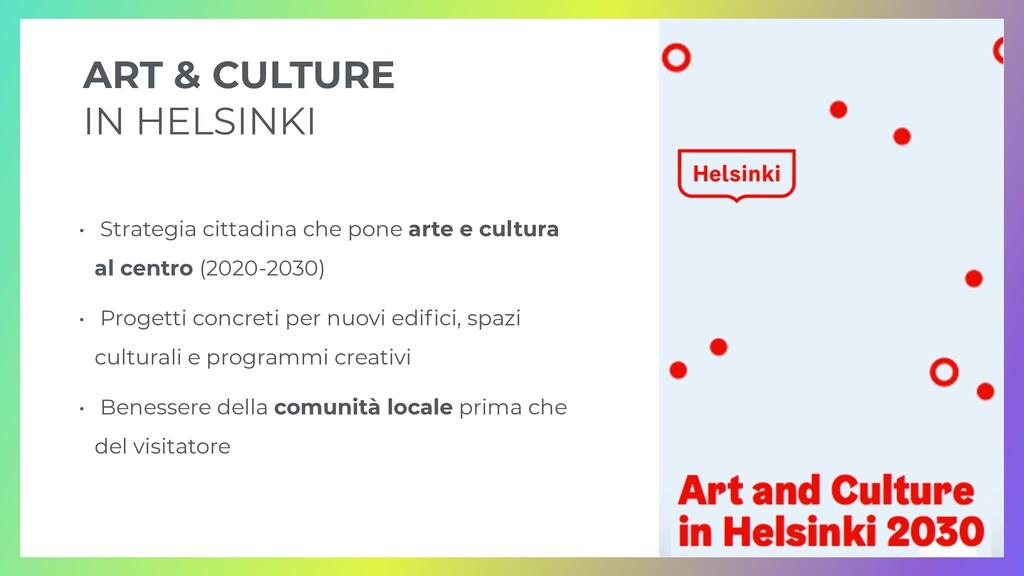 ART & CULTURE   IN HELSINKI • Strategia cittadi...