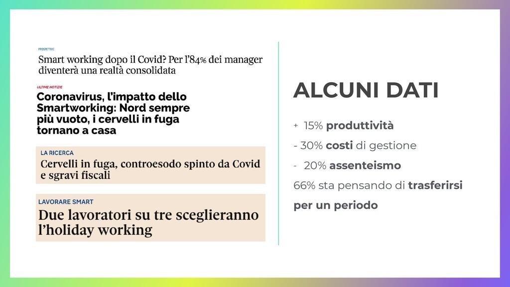 + 15% produttività   - 30% costi di gestione   ...