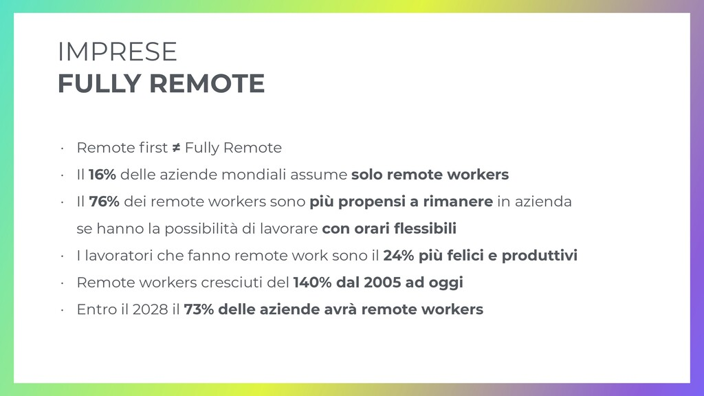 IMPRESE   FULLY REMOTE • Remote fi rst ≠ Fully ...