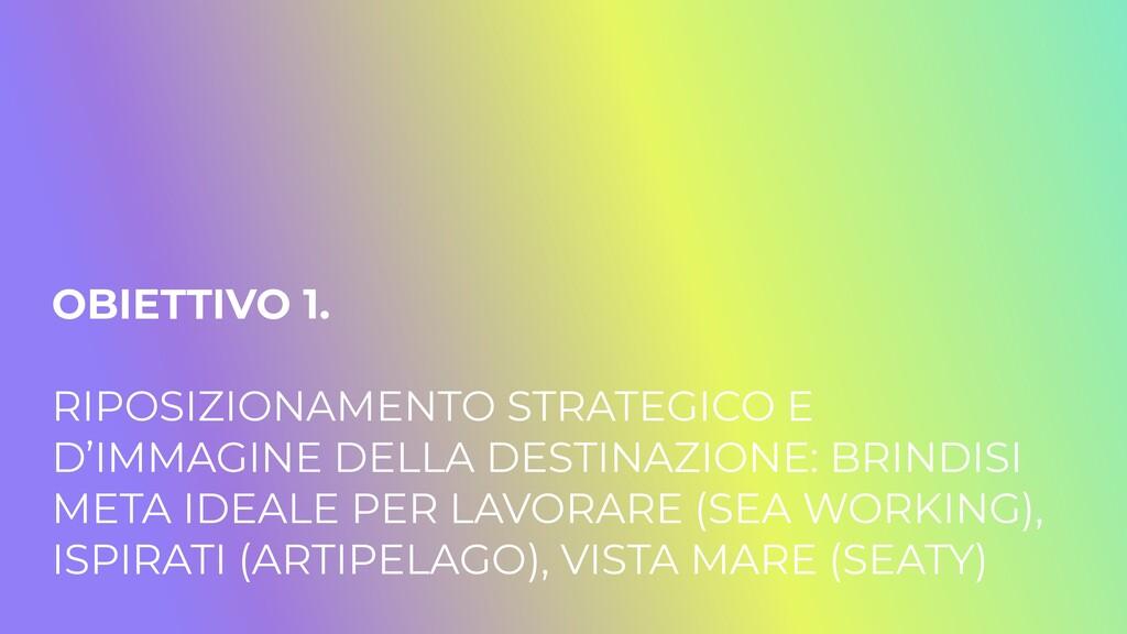 OBIETTIVO 1.   RIPOSIZIONAMENTO STRATEGICO E D'...