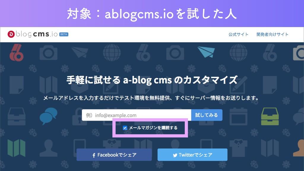 対象:ablogcms.ioを試した人