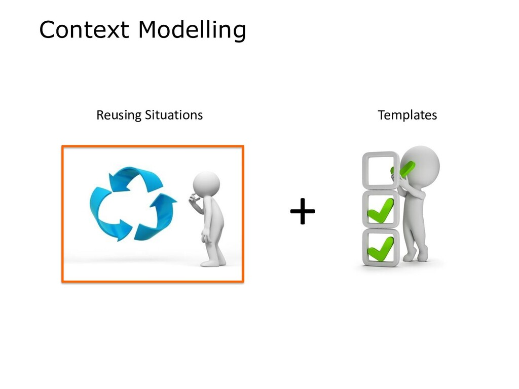 Context Modelling + Reusing Situations Templates