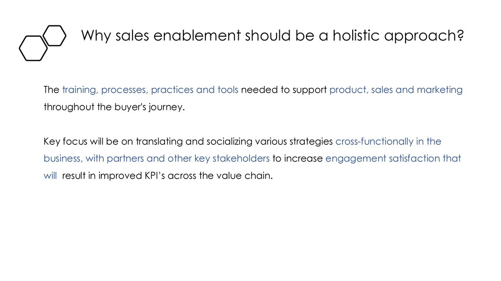 Why sales enablement should be a holistic appro...