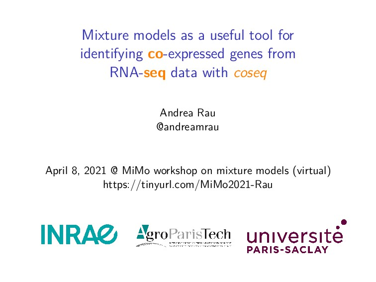 Mixture models as a useful tool for identifying...