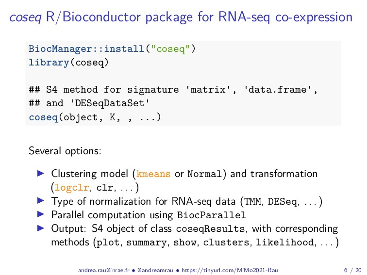 coseq R/Bioconductor package for RNA-seq co-exp...