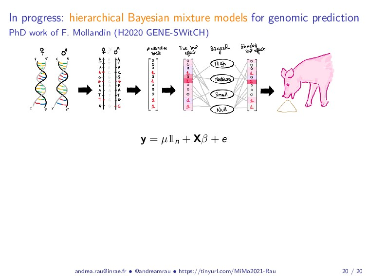 In progress: hierarchical Bayesian mixture mode...
