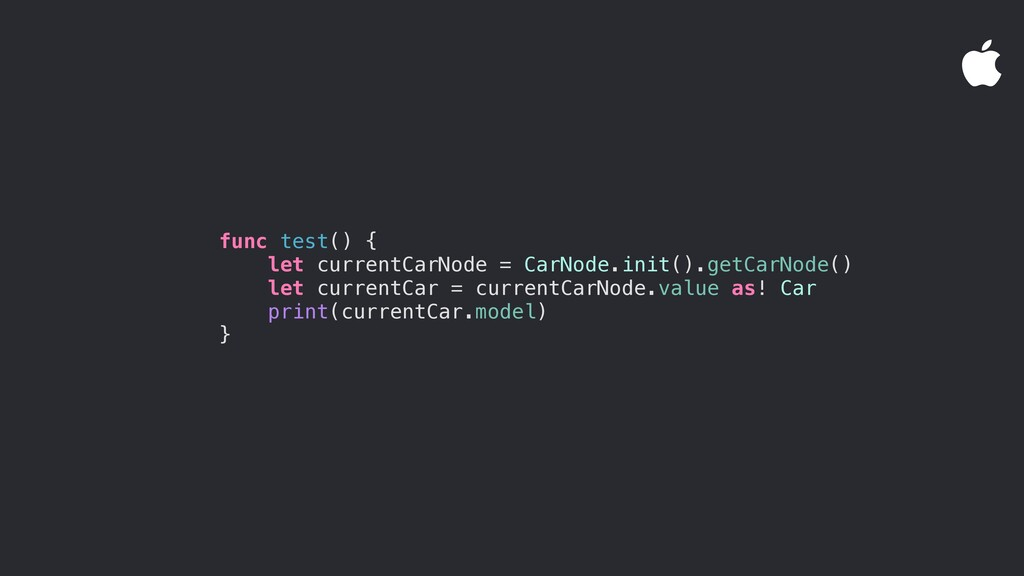func test() { let currentCarNode = CarNode.init...