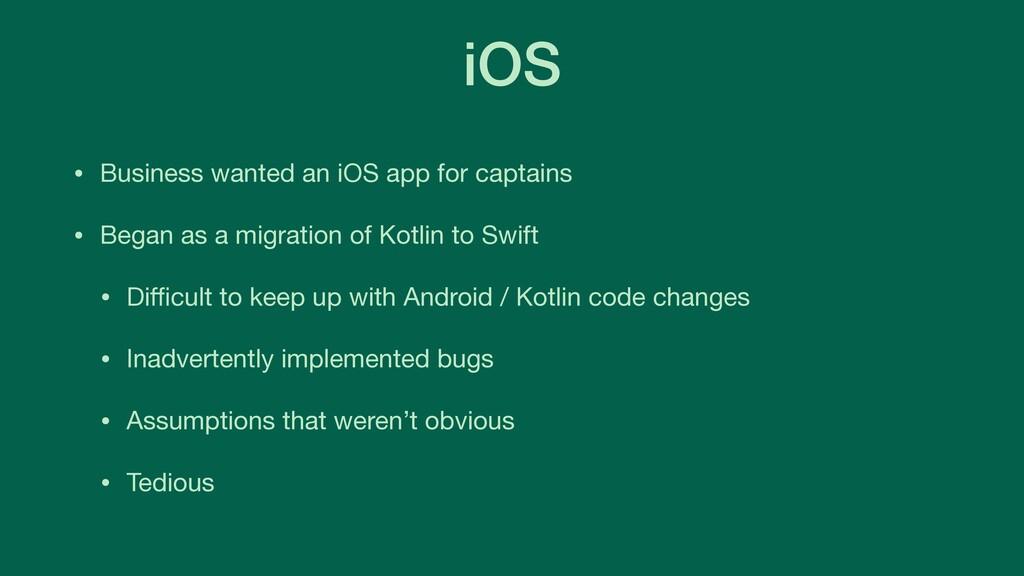 iOS • Business wanted an iOS app for captains  ...