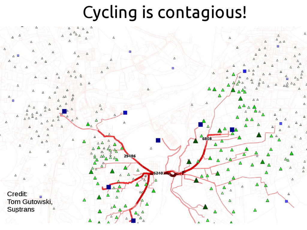Cycling is contagious! Credit: Tom Gutowski, Su...