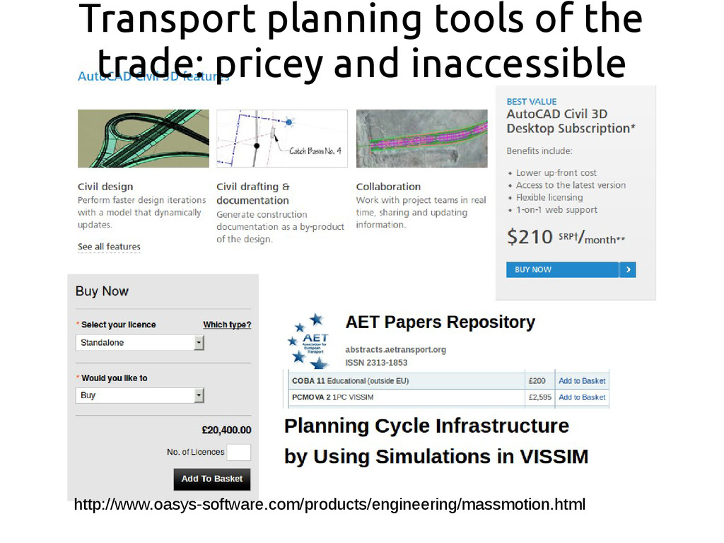 Transport planning tools of the trade: pricey a...
