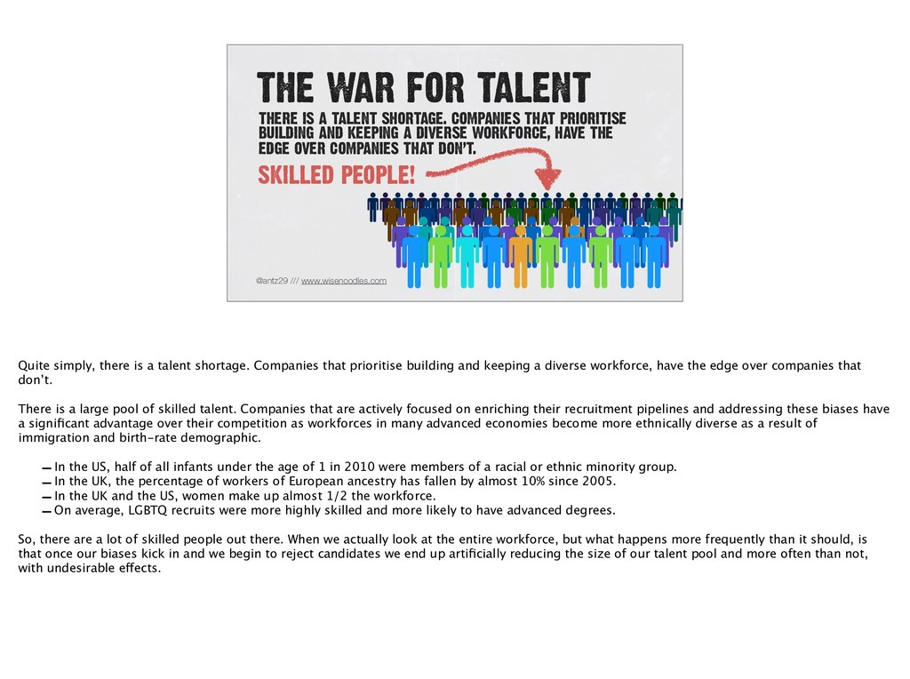 THE WAR FOR TALENT @antz29 /// www.wisenoodles....