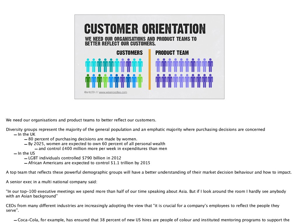 CUSTOMER ORIENTATION @antz29 /// www.wisenoodle...