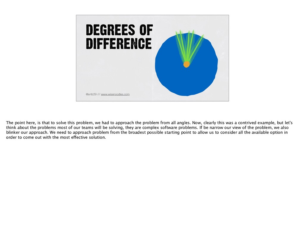 DEGREES OF DIFFERENCE @antz29 /// www.wisenoodl...