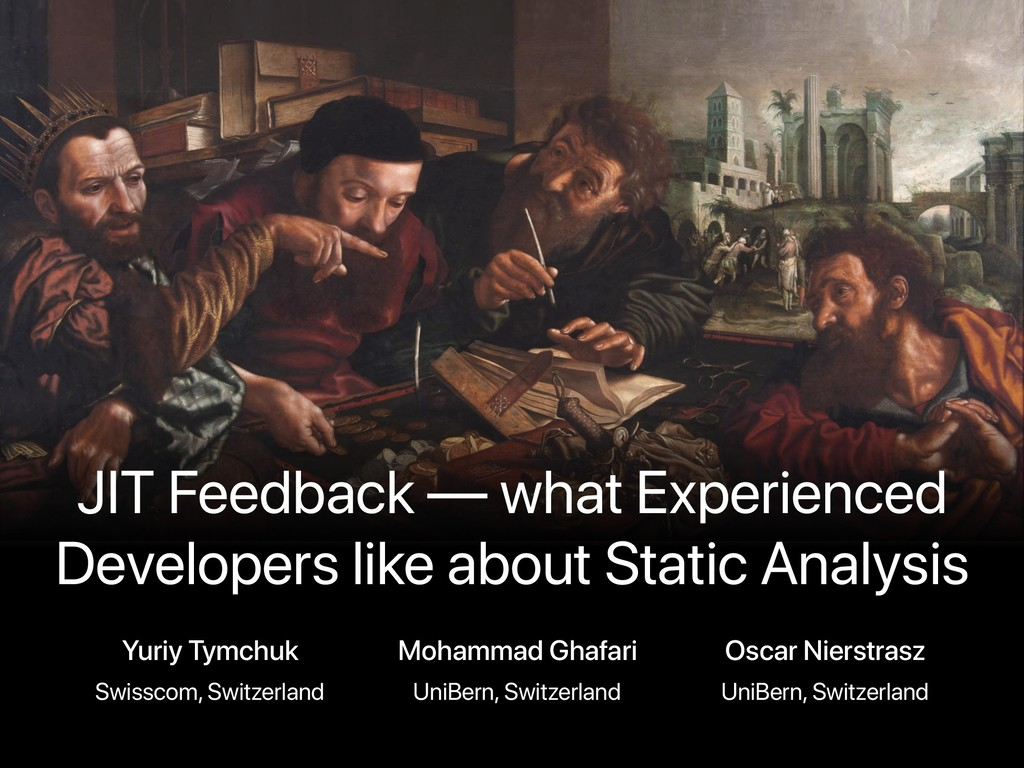 JIT Feedback — what Experienced Developers like...