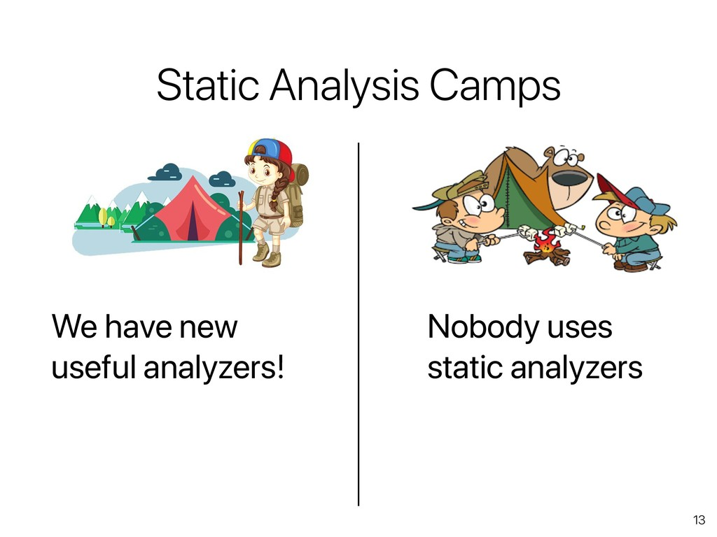 13 Static Analysis Camps We have new useful ana...