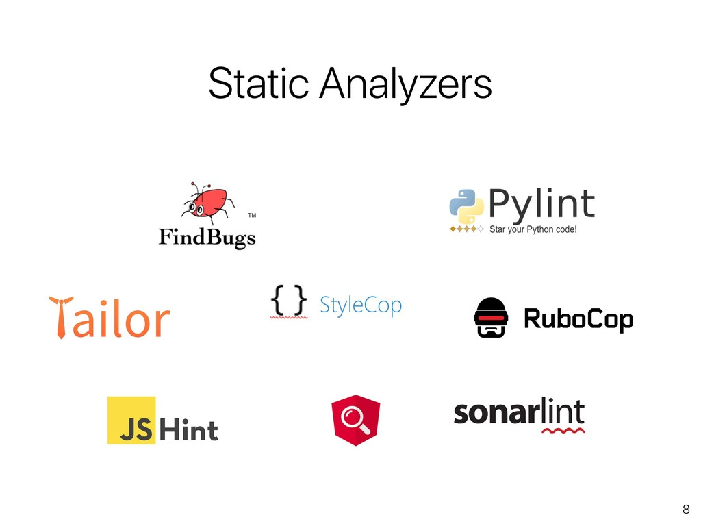 8 Static Analyzers