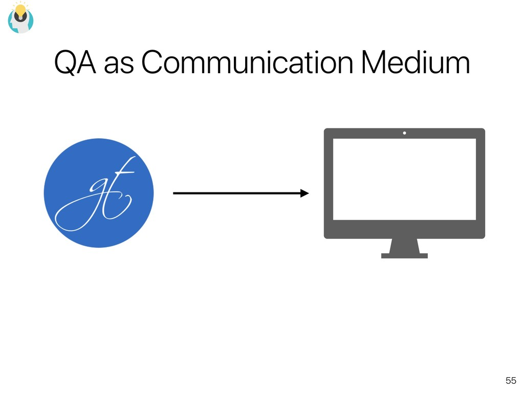 55 QA as Communication Medium
