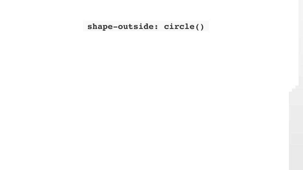 shape-outside: circle()