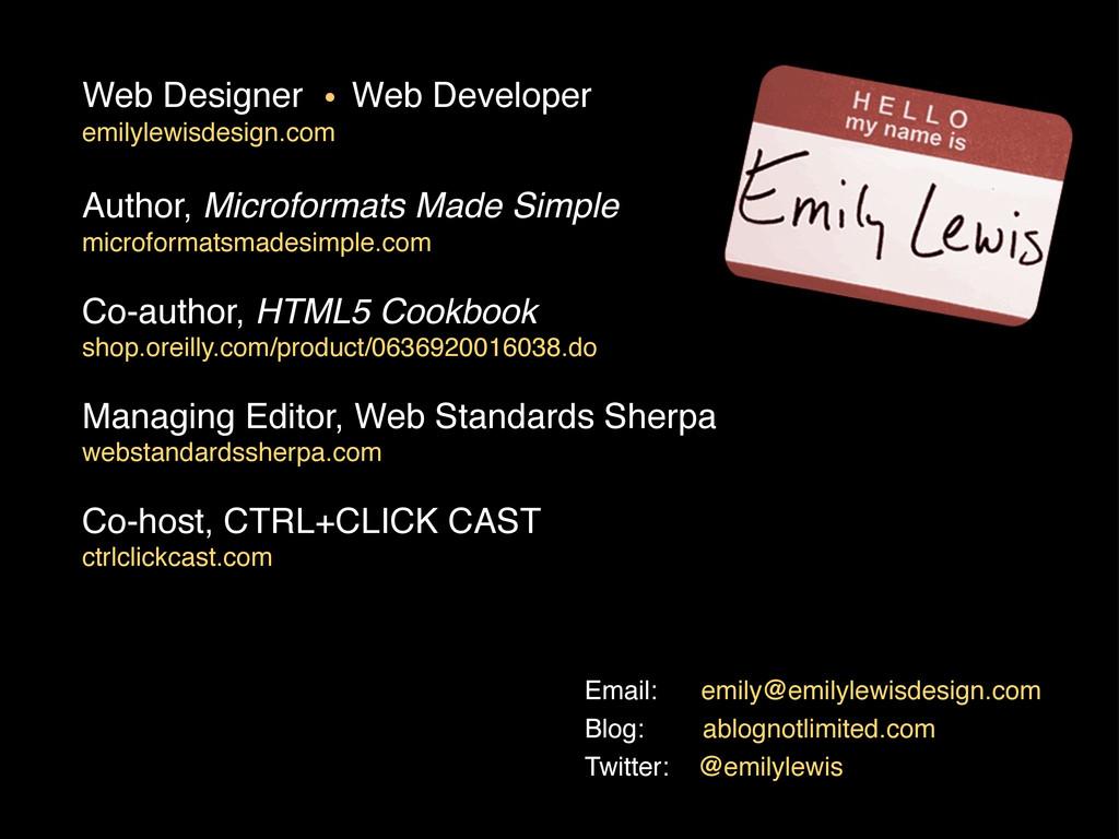 Web Designer Web Developer emilylewisdesign.com...