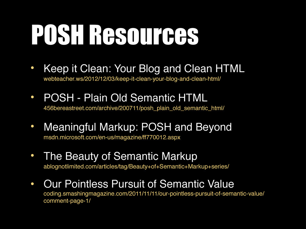 POSH Resources • Keep it Clean: Your Blog and C...