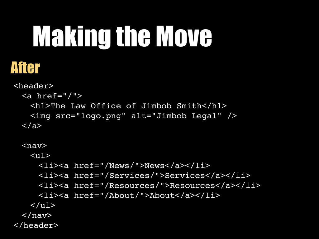 "Making the Move <header> <a href=""/""> <h1>The L..."