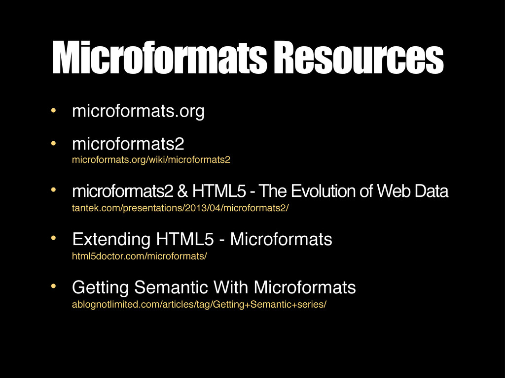 Microformats Resources • microformats.org • mic...