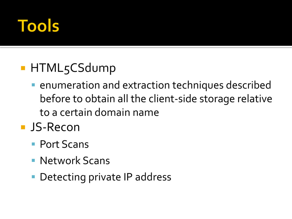  HTML5CSdump  enumeration and extraction tech...