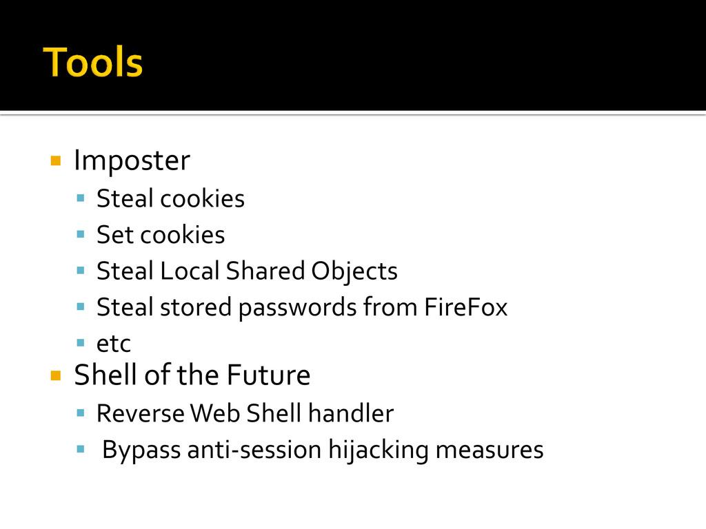  Imposter  Steal cookies  Set cookies  Stea...