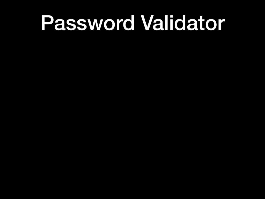 Password Validator