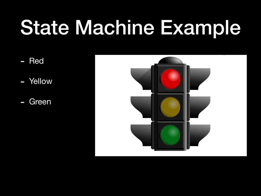 State Machine Example - Red  - Yellow  - Green