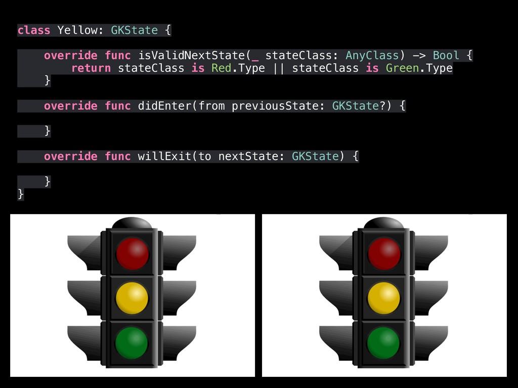 class Yellow: GKState { override func isValidNe...