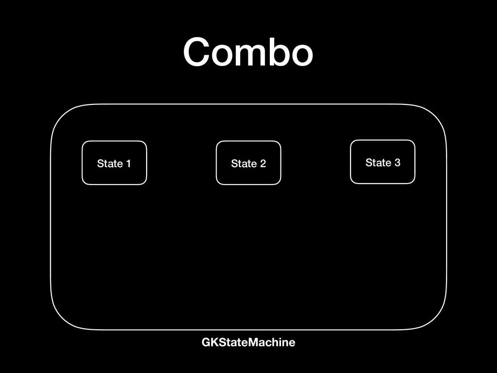 GKStateMachine Combo State 1 State 2 State 3