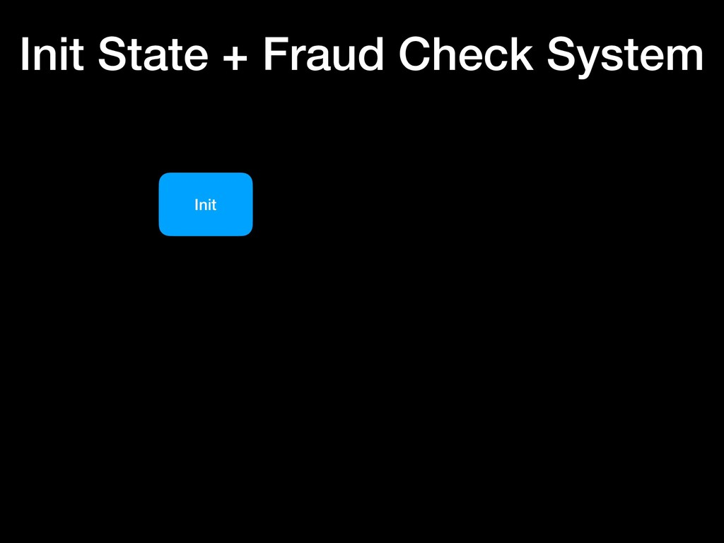 Init Init State + Fraud Check System